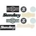 Sunday assorted sticker pack