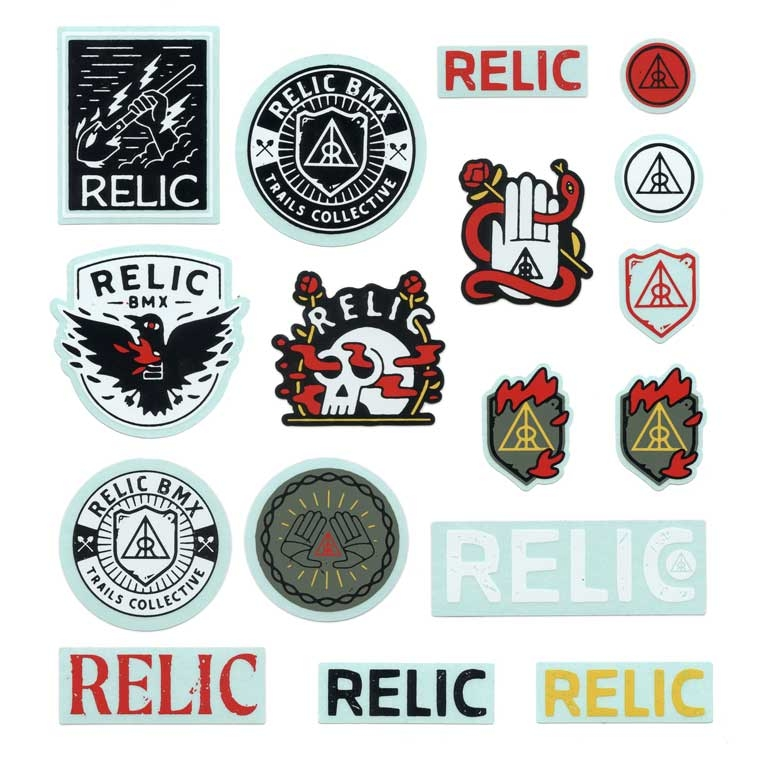 Relic assorted sticker pack