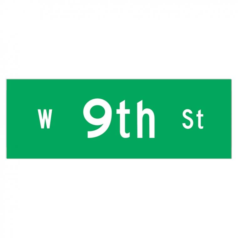 9th Street sticker