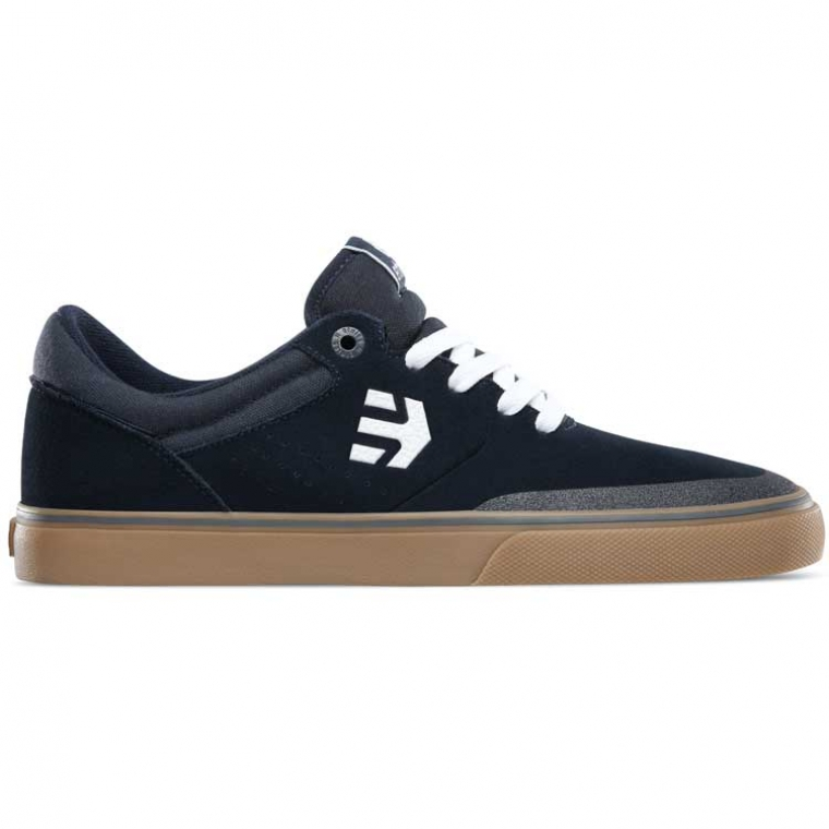 Etnies Marana Vulc shoes - navy / white / gum (Aaron Ross)