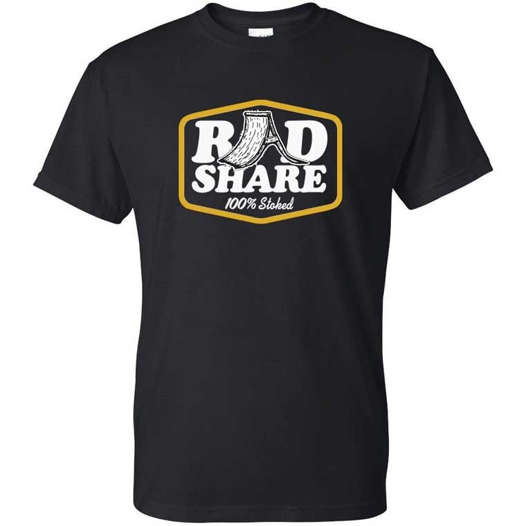 RADshare t-shirt - 100% Stoked