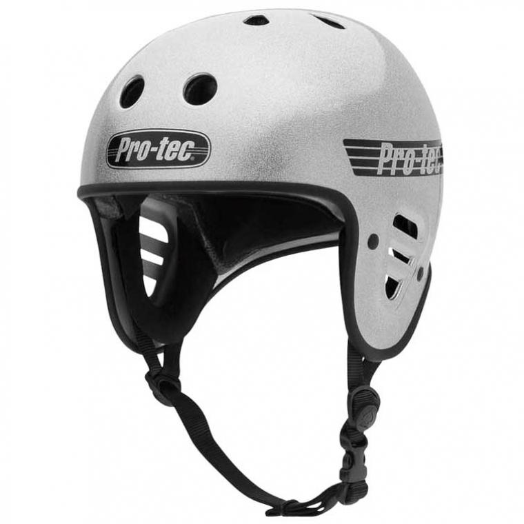 Pro-Tec Full Cut CPSC helmet - silver flake