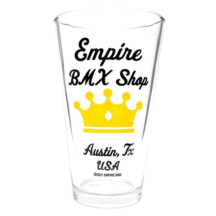Empire BMX Pint glass