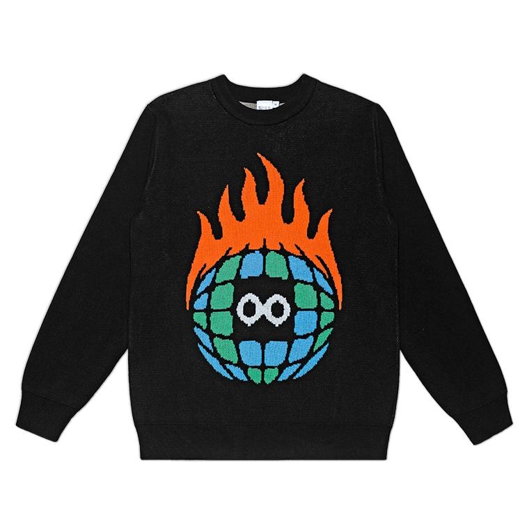 Burn Slow Entertainment Globe knit sweater