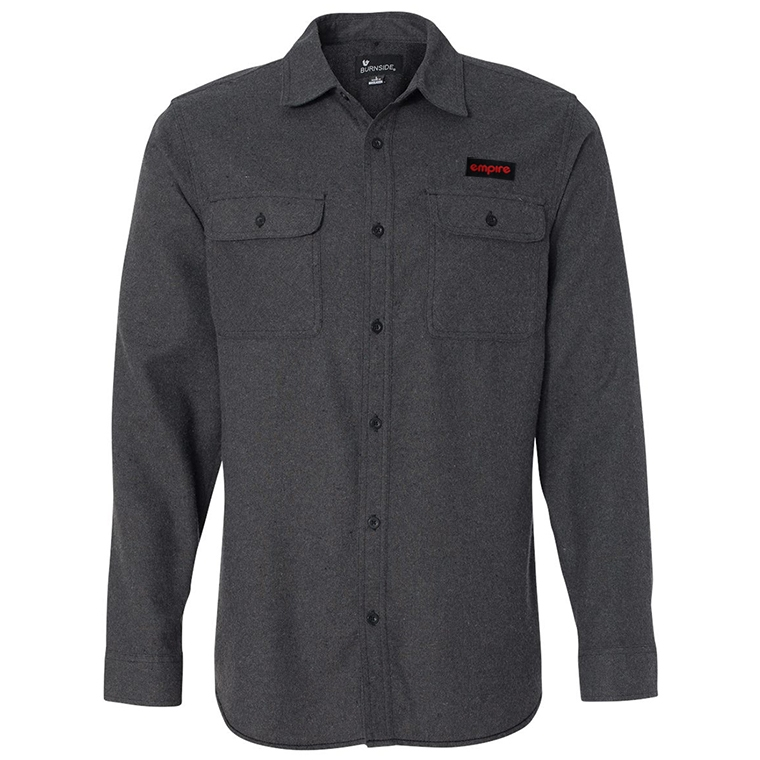 Empire BMX flannel - charcoal