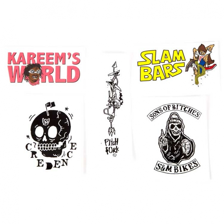 S&M assorted 5 stickers