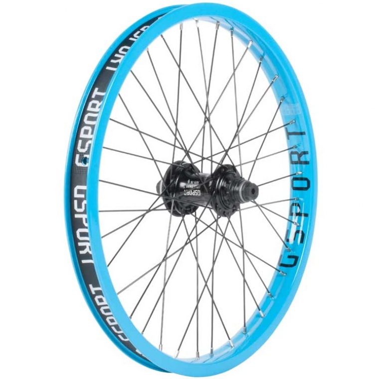 Gsport Elite CSST cyan blue rear wheel