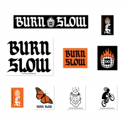 Burn Slow Entertainment assorted sticker pack