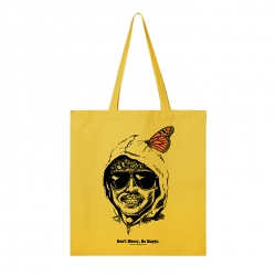 Burn Slow Entertainment Be Happy tote bag