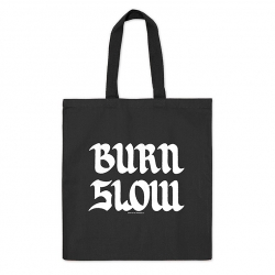 Burn Slow Entertainment Brush Logo tote bag