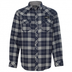 Empire BMX flannel - navy / gray
