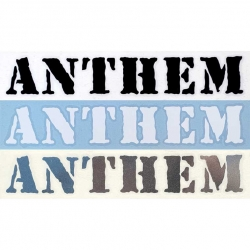 Anthem die cut sticker